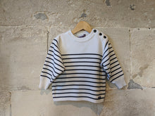 Load image into Gallery viewer, Ecume de Mer Breton Stripe - 4 Years