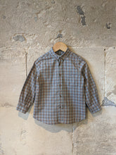 Load image into Gallery viewer, Bonpoint Soft Brown Checked Shirt - 3 Years