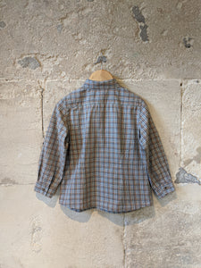 Bonpoint Soft Brown Checked Shirt - 3 Years