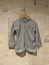 Load image into Gallery viewer, Subtle Sparkly Zip Up Sweatshirt - 4 Years