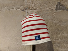 Load image into Gallery viewer, Breton Striped Squirrel Hat - 12 Months