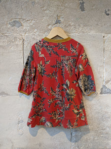 Beautiful Red Floral Tunic Little Joules Dress - 5 Years