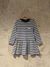 Load image into Gallery viewer, Sergent Major Designer Fox Striped Dress - 5 Years
