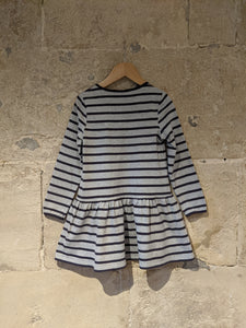 Sergent Major Designer Fox Striped Dress - 5 Years