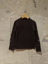 Load image into Gallery viewer, Pretty Chocolate Brown Roll Neck - 6 Years