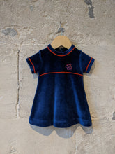 Load image into Gallery viewer, Beautiful Vintage Petit Bateau Jewel Velvet Dress - 6 Months