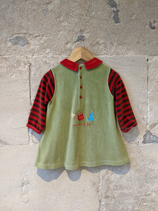 Fabulous French Velour Dress - 12 Months