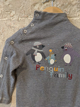 Load image into Gallery viewer, Amazing French Striped Penguin Crew Neck - 12 Months