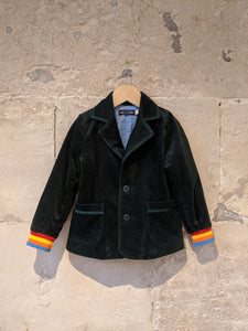 Beautifully Rich Green Velvet Jacket - 4 Years