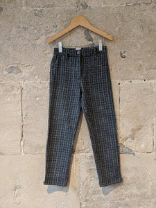 3 Pommes Cool Checked Slim Fit Trousers - 6 Years