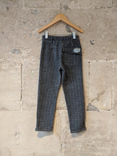 Load image into Gallery viewer, 3 Pommes Cool Checked Slim Fit Trousers - 6 Years