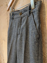 Load image into Gallery viewer, Fabulous Vintage Blue Herringbone Petit Bateau Trousers - 18 Months