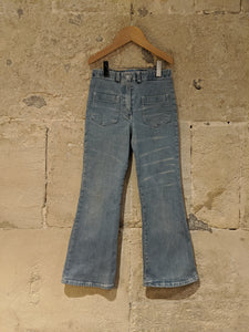 Flattering Flared French Washed Denim Jeans - 6 Years