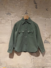 Load image into Gallery viewer, Benson, Paris, Vintage Green Cotton Shirt - 6 Years