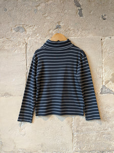 Classic French Striped Roll Neck - 6 Years