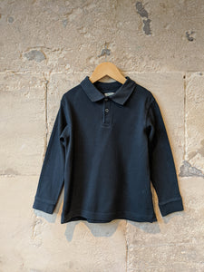 Long Sleeved French Navy Polo Shirt - 6 Years
