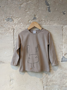 Taupe Bunny Top - 2 Years