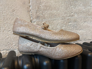 Golden Sparkly Party Shoes - Size 11 / 29