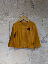 Load image into Gallery viewer, Beautiful Mustard Fine Cable Knit Cardigan - 2 Years