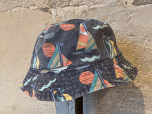 Load image into Gallery viewer, Reversible Sailing Boat Sun Hat - 18 Months