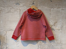 Load image into Gallery viewer, Petit Bateau Classic Striped Hoodie - 6 Years
