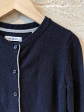 Load image into Gallery viewer, Soft French Navy Angora Mix Cardigan - 5 Years