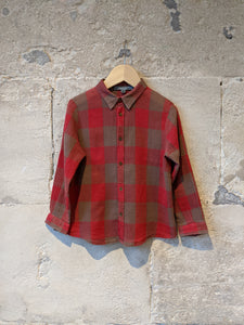 Bonpoint Soft & Floaty Checked Shirt - 4 Years