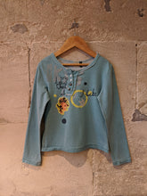Load image into Gallery viewer, IKKS Sea Green Sparkly Top - 8 Years