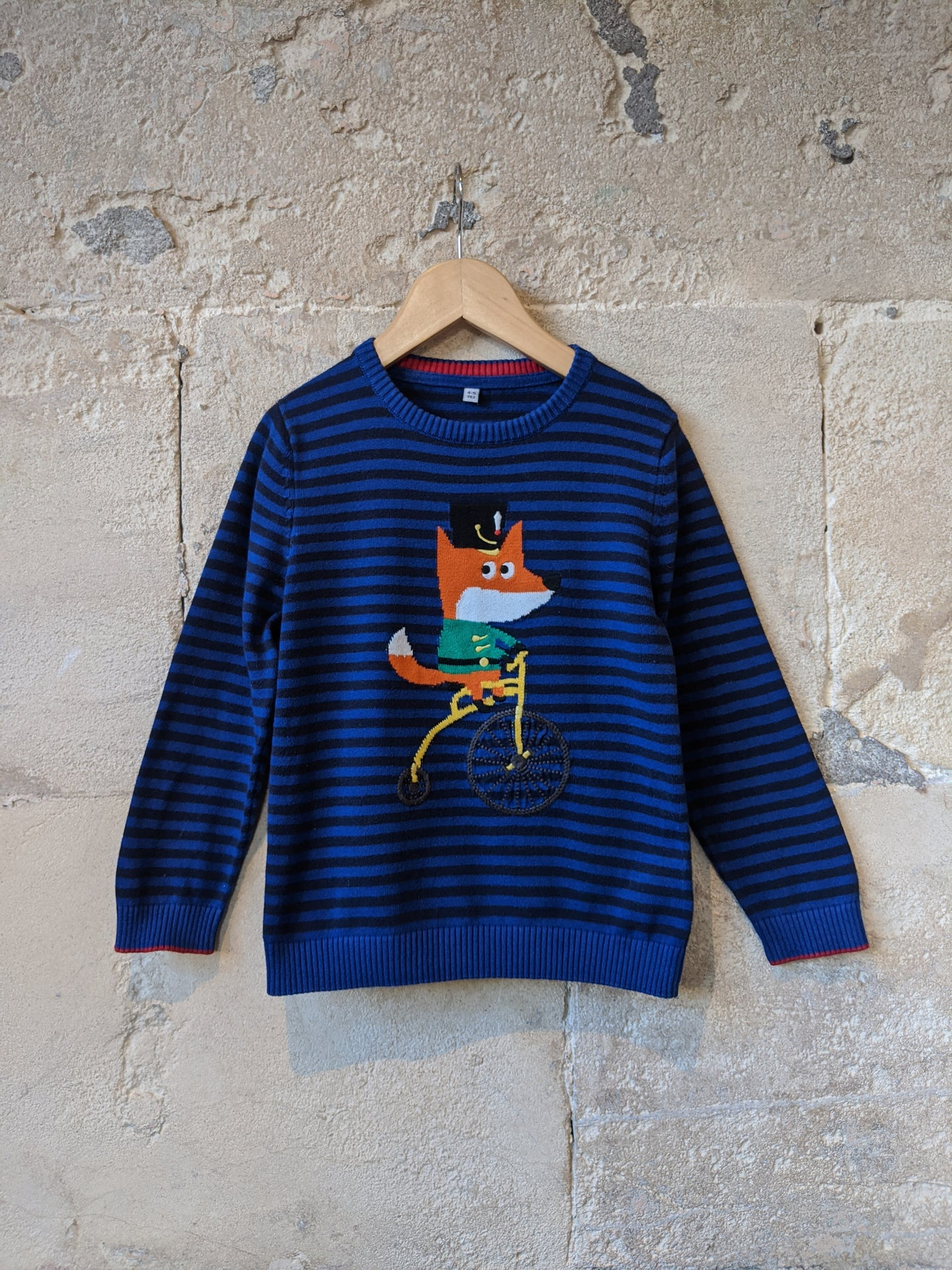 Gorgeous Striped Fox Jumper - 4 Years
