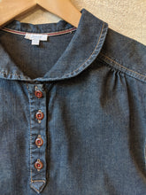 Load image into Gallery viewer, Jacadi Dark Denim A-Line Shirt Dress - 8 Years