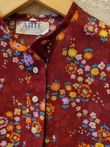 Beautiful French Vintage Floral Tunic - 5 Years
