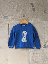 Load image into Gallery viewer, Mayoral Cosy Cotton Royal Blue Dog Jumper - 12 Months