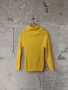 Sunshine Yellow Vintage Jumper - 4 Years