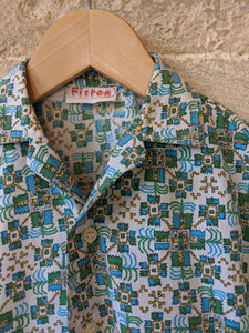 French Retro Print Cool Cotton Shirt - 8 Years