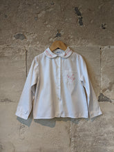 Load image into Gallery viewer, Jacadi French Vintage Cotton Blouse with Pretty Peter Pan Collar - 6 Years