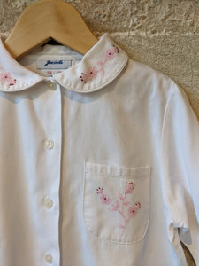Jacadi French Vintage Cotton Blouse with Pretty Peter Pan Collar - 6 Years