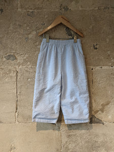 Lovely Sky Blue Seersucker Striped Cotton Trousers - 2 Years