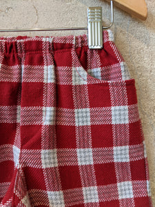 Spanish Vintage Red Plaid Shorts - 18 Months