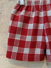 Load image into Gallery viewer, Spanish Vintage Red Plaid Shorts - 18 Months