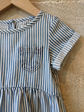 Load image into Gallery viewer, Wonderful Hickory Striped Soft Denim Dress - 18 Months