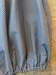 French Antique 30s Arlequin Checkered Romper - 3 Months