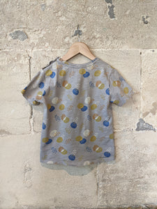 Cool Grey Abstract Print T Shirt - 3 Years