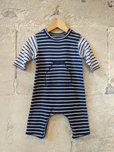 Load image into Gallery viewer, Petit Bateau Classic Striped Soft Cotton Romper - 3 Months