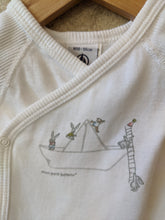 Load image into Gallery viewer, Preloved Petit Bateau Cute Bunny Rabbit Sailing Boat Design - Newborn