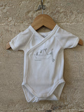 Load image into Gallery viewer, Petit Bateau Newborn Bunny Rabbit White Vest