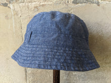 Load image into Gallery viewer, Lovely Bout'Chou Chambray Summer Hat 12 Months
