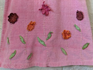 Pink Velvet fabric Baby Girl's Dress by DPAM 23 Months Flowers