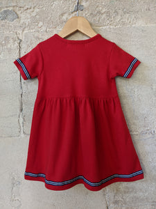 Beautiful Vintage Red Sail Boat Dress 12 Months