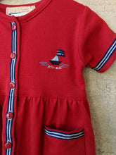 Load image into Gallery viewer, Beautiful Vintage Red Sail Boat Dress 12 Months