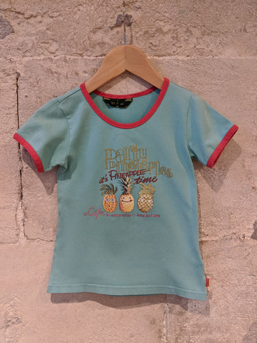 Party pineapple Oilily TShirt Girls Preloved Designer Top 4 Years